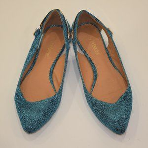 Blue Shoe Dazzle sparkly flats size 7